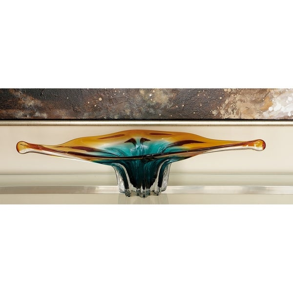 Blue Glass Decorative Bowl. Opens flyout.