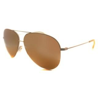 Victoria Beckham Large Classic Victoria Metal Aviator Santa Monica 18K Gold Mirror Lens Sunglasses