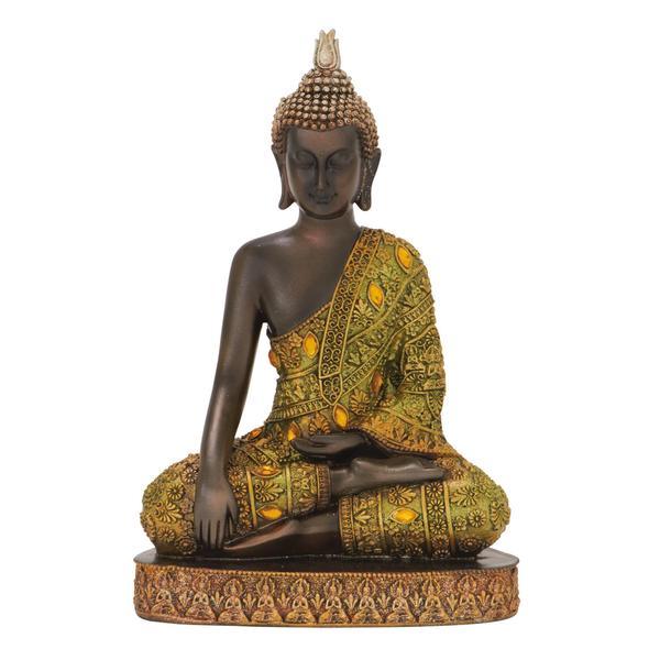 The Curated Nomad Castenada Religious Resin Buddha Statuette