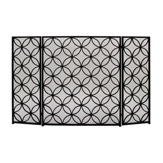 Striking Metal 48-inch x 30-inch Fire Screen