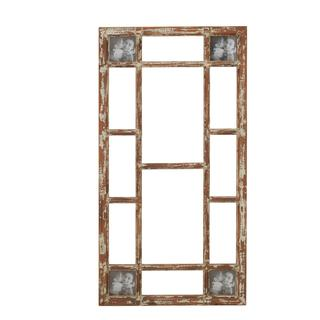 Brown Wood and Glass 22-inch x 44-inch Durable Photo Frame Decor