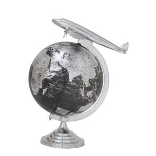Silver Aluminum PVC 17-inch x 26-inch Globe
