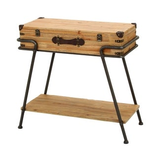 Accent Collection Metal and Wood 32-inch x 30-inch Chest Table