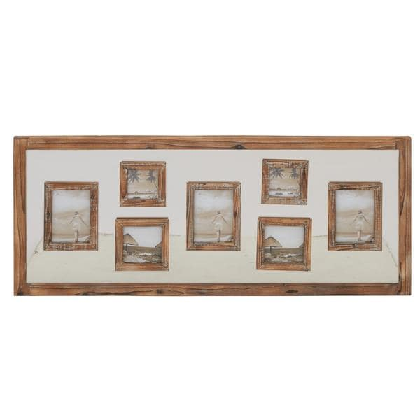 Shop Brown Wood 47-inch x 20-inch Wall Photo Frame - Free Shipping ...