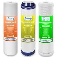 iSpring F3 3-piece Replacement Filter Set for Standard 10-inch Housing Water Filters (No Membrane)