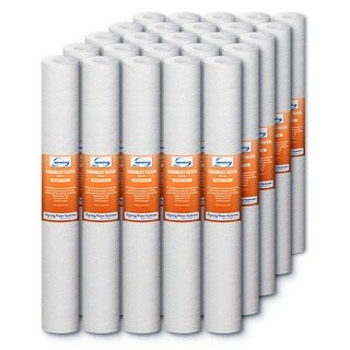 iSpring FP25X25 Polyester 5-micron 20-inch x 2.5-inch Sediment Filter Replacement Cartridges (Case of 25)
