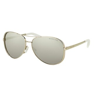 Michael Kors Chelsea Silver Metal Silver Mirrored Polarized Lens Aviator Sunglasses