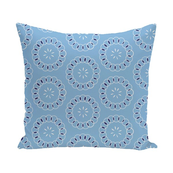 16 x 16-inch Happiness Is� Floral Print Outdoor Pillow