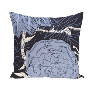 16 x 16-inch Flowers and Fronds Floral Print Outdoor Pillow