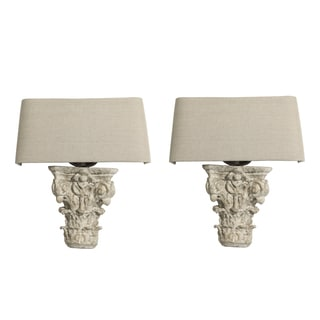 Aidan Gray Francesca Vintage-style Off-white Resin Wall Sconce (Set of 2)