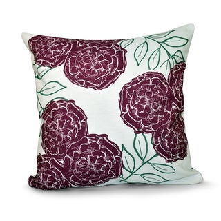 16 x 16-inch Mums the Word Floral Print Outdoor Pillow