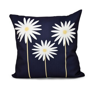 16 x 16-inch Daisy May Floral Print Indoor/Outdoor Throw Pillow