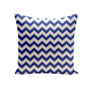 16 x 16-inch Chevron Geometric Print Outdoor Pillow