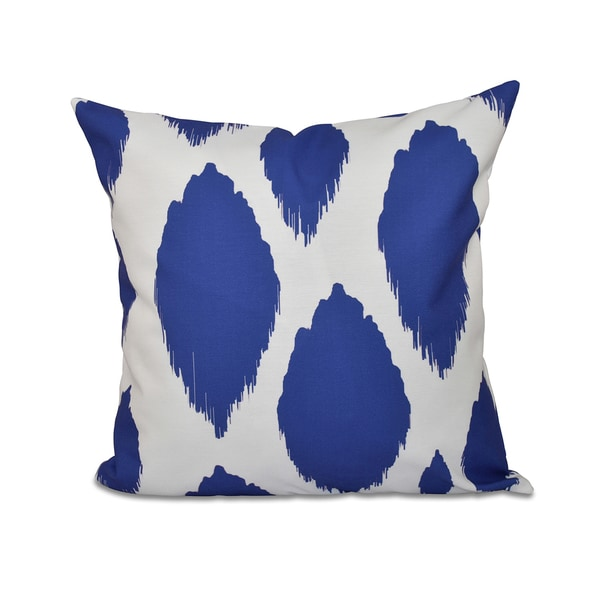 16 x 16-inch Abstract Geometric Print Outdoor Pillow