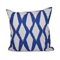 16 x 16-inch Geometric Print Indoor/Outdoor Throw Pillow
