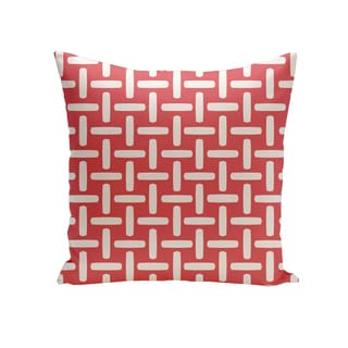 16 x 16-inch Geometric Print Outdoor Pillow