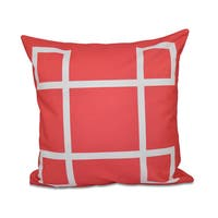 16 x 16-inch Geometric Print Outdoor Pillow