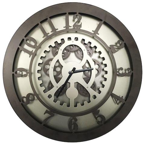 A&B Home Classic Gears Iron/Plastic 20-inch Wall Clock