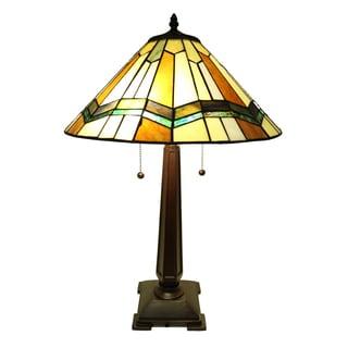 Exavyera Tiffany-style Stained-glass 2-light Table Lamp