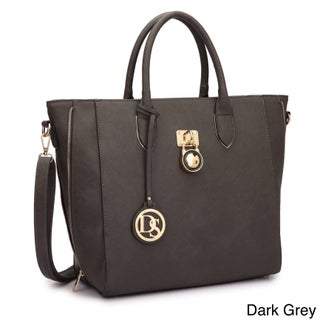 Dasein Faux Leather Medium Tote Bag