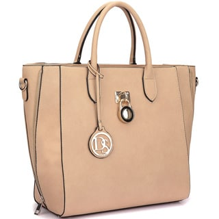 Dasein Faux Leather Medium Tote Bag