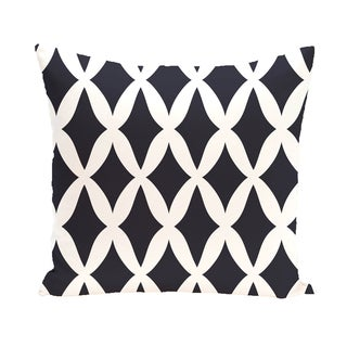 16 x 16-inch Lattice Kravitz Geometric Print Outdoor Pillow