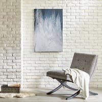 INK+IVY Abstract Navy Gel Coat Canvas Wall Art