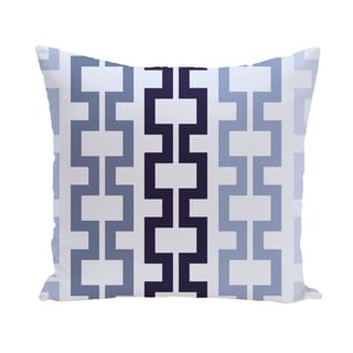 16 x 16-inch Cuff-Links Geometric Print Outdoor Pillow