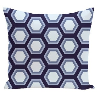 16 x 16-inch Hex Appeal Geometric Print Outdoor Pillow