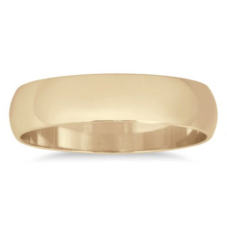 Marquee Jewels 4mm 10k Yellow-gold Domed Wedding Band (More options available)