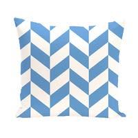 16 x 16-inch Zigzag Jag Geometric Print Outdoor Pillow
