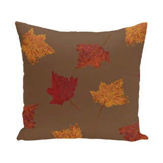 16 x 16-inch Dancing Leaves Floral Print Outdoor Pillow