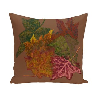 16 x 16-inch Autumn Leaves Floral Print Outdoor Pillow