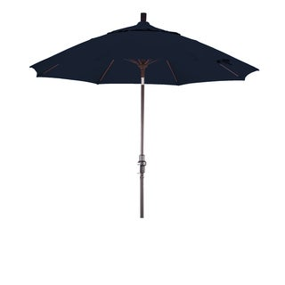 California Umbrella 9' Rd. Aluminum/Fiberglass Rib Market Umb, Deluxe Crank Lift/Collar Tilt, Bronze Finish, Sunbrella Fabric