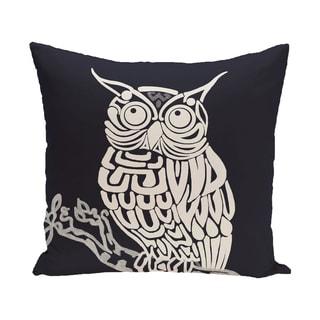 16 x 16-inch Hootie Animal Print Outdoor Pillow