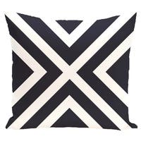 16 x 16-inch X Marks the Spot Stripes Print Outdoor Pillow