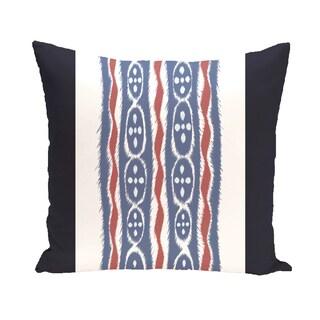 16 x 16-inch Ikat Ribbon Stripes Print Outdoor Pillow