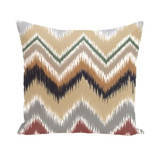 16 x 16-inch ikat-arina Chevron Stripes Print Outdoor Pillow