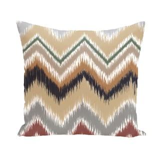 16 x 16-inch ikat-arina Chevron Stripes Print Outdoor Pillow