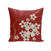 16 x 16-inch Floral Print Outdoor Pillow