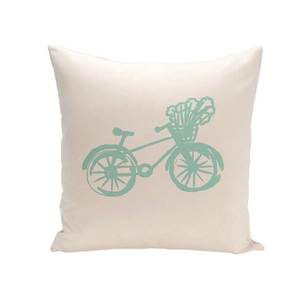 16 x 16-inch Coastal Print Outdoor Pillow