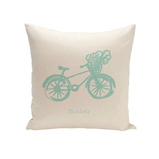 16 x 16-inch Coastal Print Outdoor Pillow