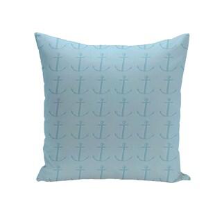 16 x 16-inch Anchor Coastal Print Outdoor Pillow