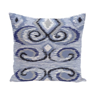 16 x 16-inch IKAT's Meow Geometric Print Indoor/Outdoor Throw Pillow