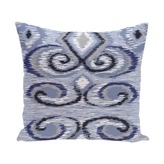 16 x 16-inch IKAT's Meow Geometric Print Outdoor Pillow