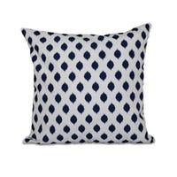16 x 16-inch Cop-IKAT Geometric Print Outdoor Pillow