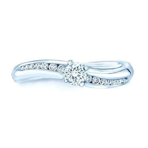 Platinum 2/5ct TDW Diamond Promise Ring