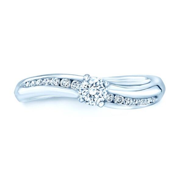 Platinum 2/5ct TDW Diamond Promise Ring. Opens flyout.