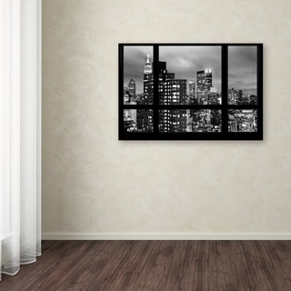 Philippe Hugonnard 'Window View Manhattan BW' Canvas Art