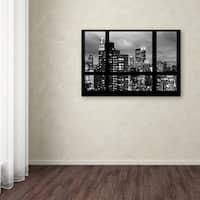Philippe Hugonnard 'Window View Manhattan BW' Canvas Art - Multi